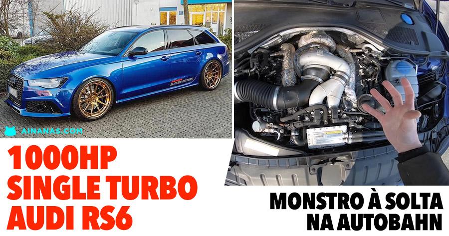 DAMN: Audi RS6 de 1000HP rasga tudo na Autobahn