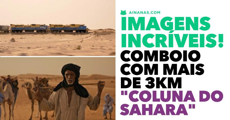 COLUNA DO SAHARA: Imagens incríveis de comboio com mais de 3KM