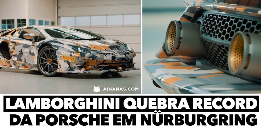 LAMBORGHINI quebra record da Porsche em Nürburgring