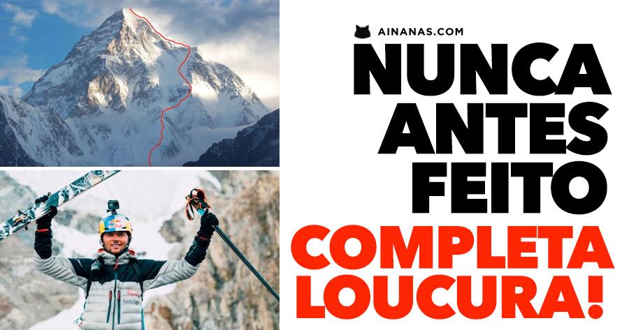 NUNCA tinham feito nada semelhante: este louco desceu o K2 inteiro a esquiar!