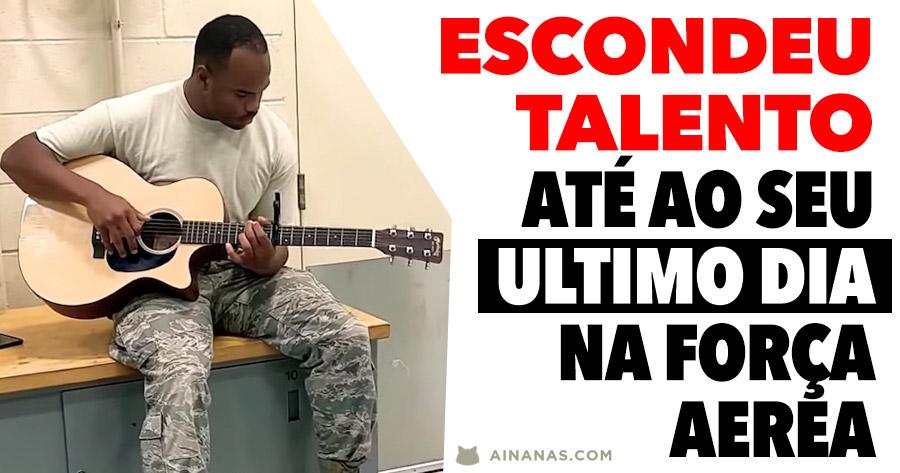 Soldado nunca revela o seu talento até ao ULTIMO DIA na Força Aérea