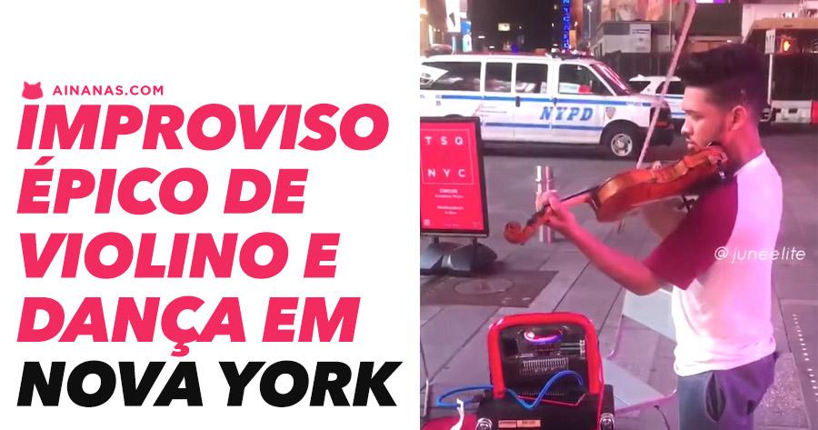 Grande Improviso de violino e dança em Nova York