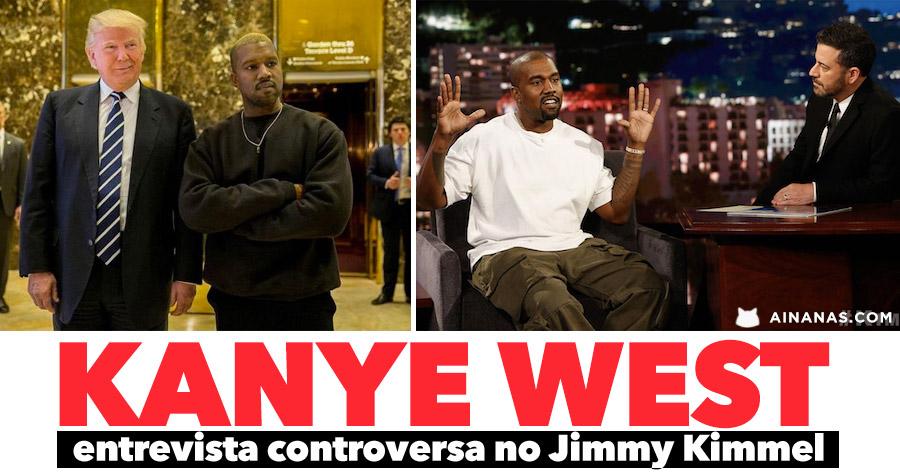 KANYE WEST em nova entrevista controversa no Jimmy Kimmel