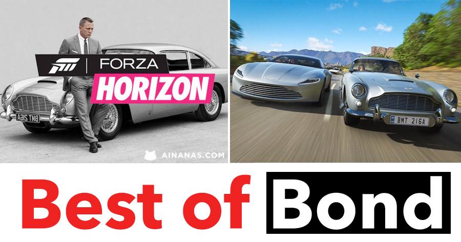Joga FORZA com os mais míticos carros de JAMES BOND