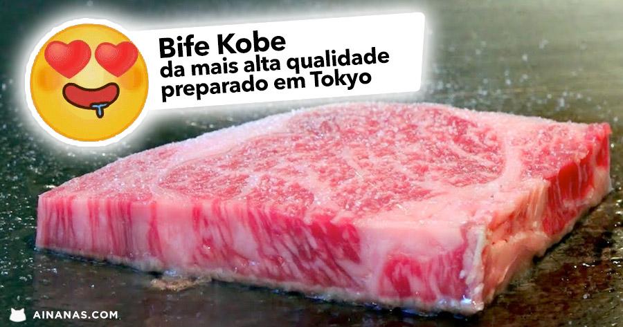 BIFE KOBE da mais alta categoria (A5) preparado em Tokyo
