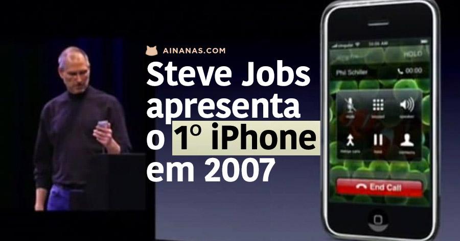 STEVE JOBS a apresentar o primeiro iPhone em 2007