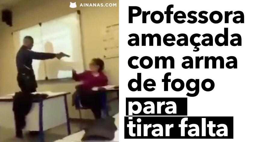 Professora ameaçada com ARMA DE FOGO na Sala de Aula