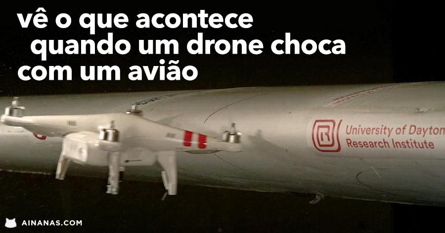 Eis o que acontece se um DRONE bater num avião