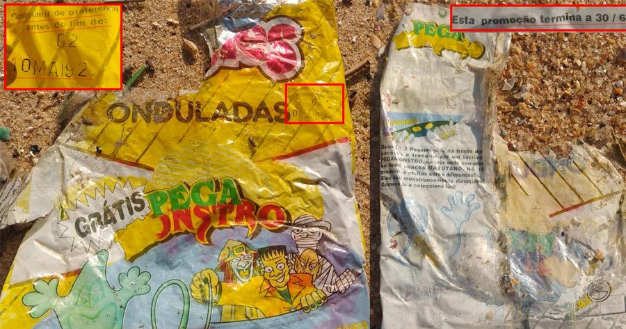 ASSUSTADOR: pacote de batatas fritas com 26 anos encontrado em Santa Cruz