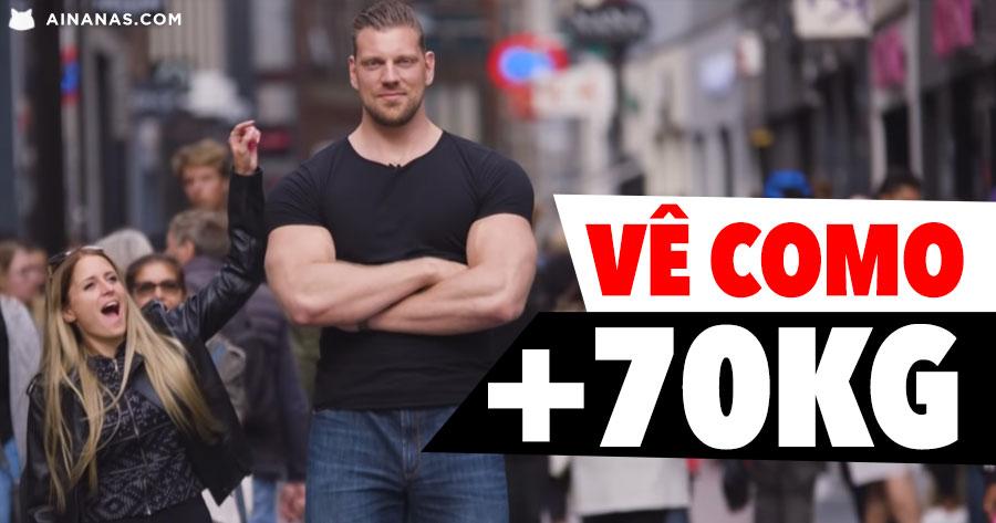 Gigante Holandês mostra como GANHOU 70kg