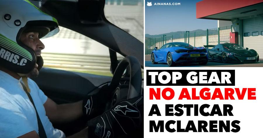 Top Gear no Algarve a ESTICAR MCLARENS