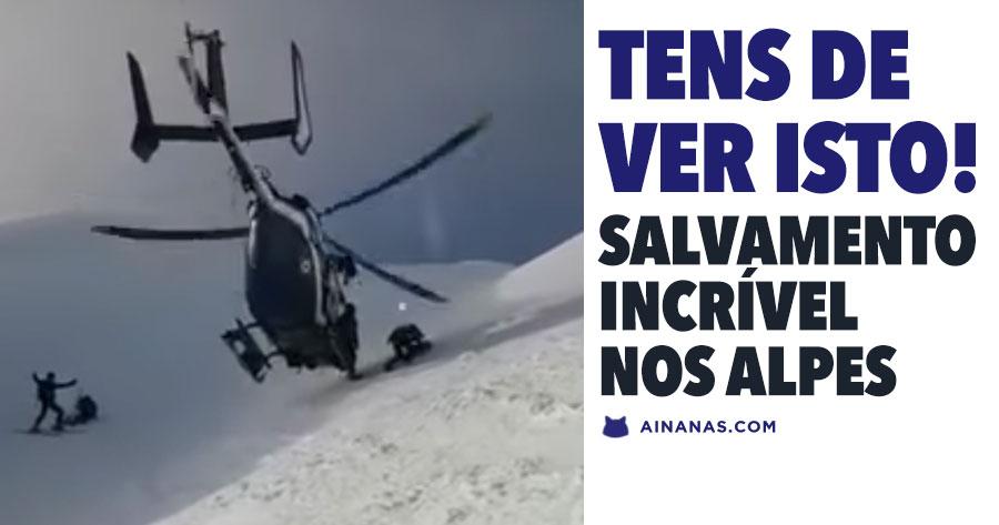 Salvamento INCRÍVEL com helicóptero