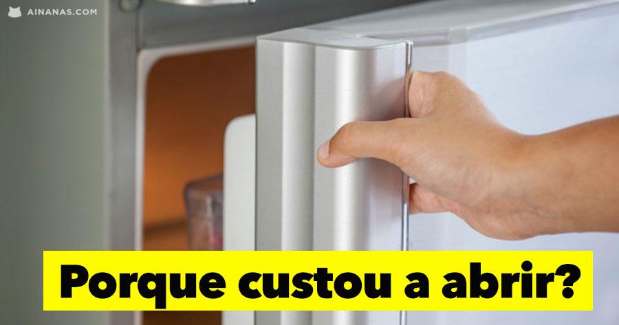 Porque é que CUSTA MAIS abrir o congelador à segunda vez?
