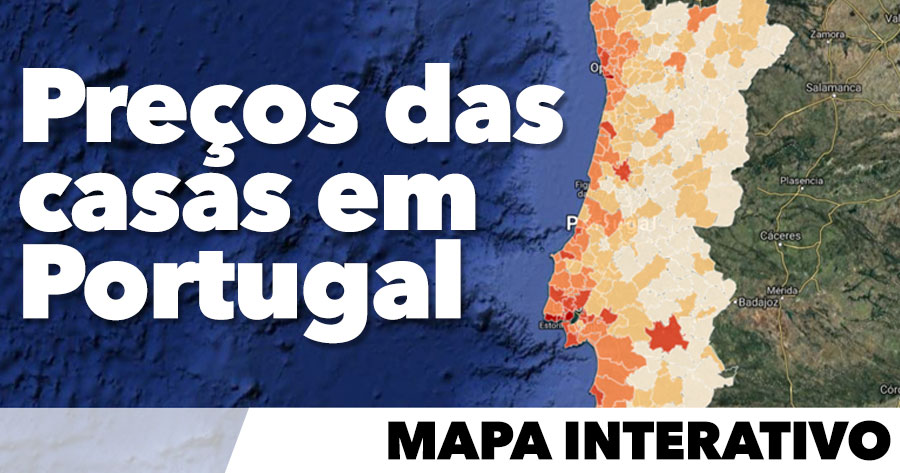 Ve O Preco Das Casas Em Portugal Mapa Interativo Ainanas Com
