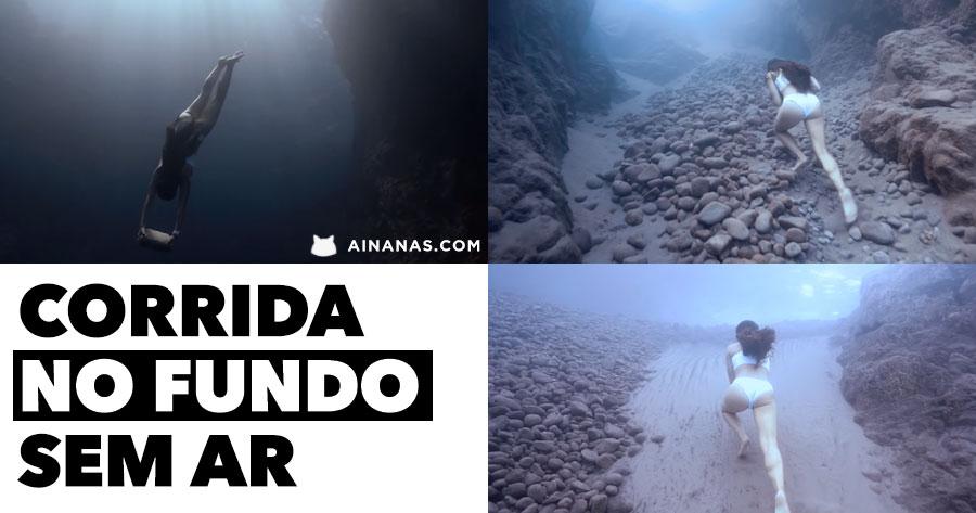 SEGURA O FÔLEGO: corrida sem ar debaixo de água