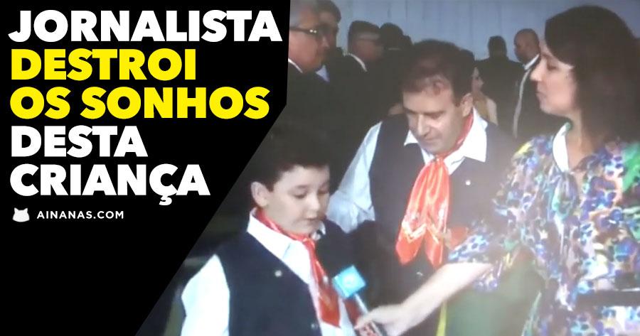 Jornalista DESTRÓI SONHOS de Pequeno Poeta