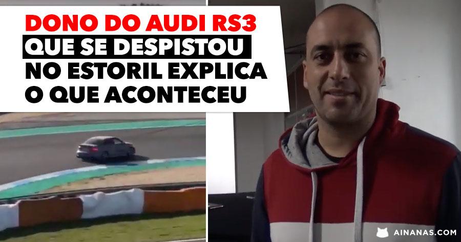 Afinal o que aconteceu ao AUDI RS3 que se espetou no Estoril?