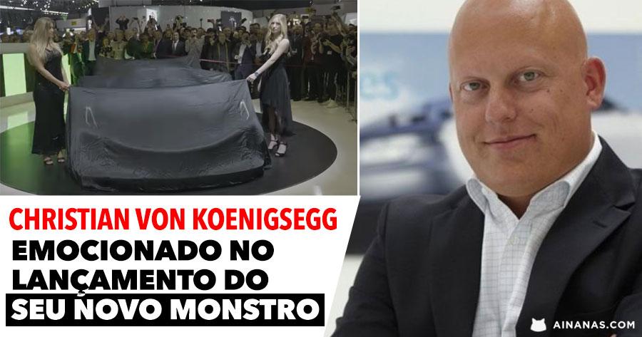 JESKO: Fundador da Koenigsegg EMOCIONA-SE no Lançamento do novo Modelo