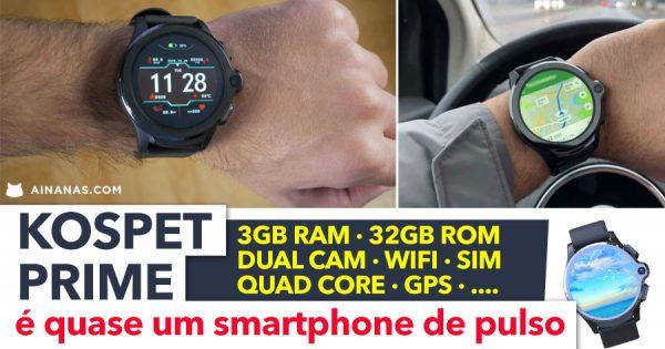 KOSPET PRIME é basicamente um smartphone de pulso