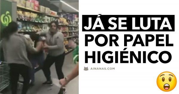 Já andam a LUTAR POR PAPEL HIGIÉNICO nos Supermercados