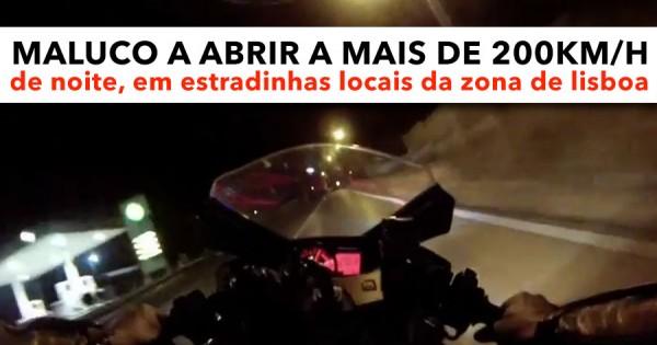 Maluco a Abrir a 200km/h DE NOITE em Estradinhas de Lisboa