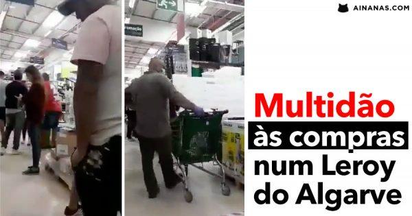 TUDO MALUCO: multidão filmada a passear numa Loja no Algarve