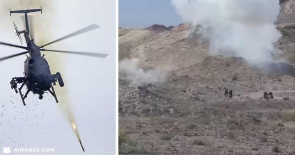 BRRRRRT!!! Apenas um treino de tiro do AH-6 Little Bird