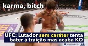 UFC: Lutador Tenta GOLPE BAIXO mas leva Instant Karma