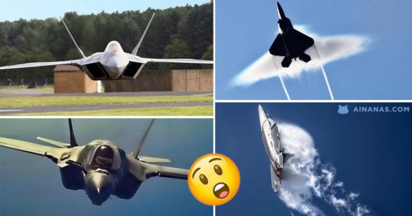 F-22 RAPTOR faz Manobras INSANAS
