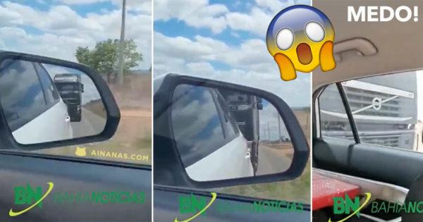 ASSUSTADOR: camionista provoca acidente
