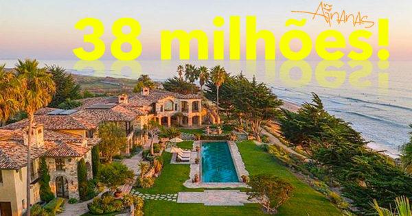 Mansão de 38 MILHÕES na California com PRAIA PRIVADA
