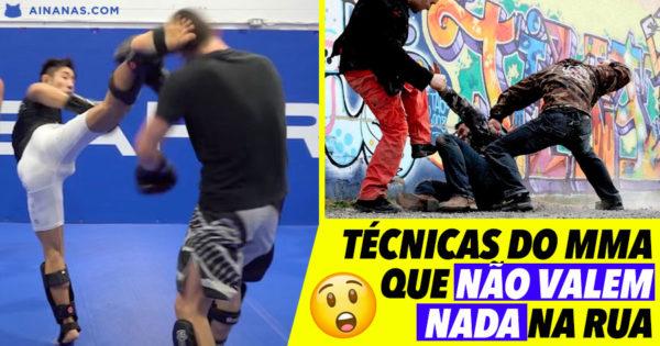 Técnicas de MMA que NÃO VALEM NADA na Rua