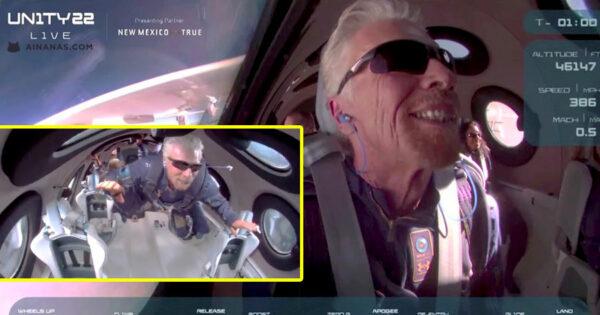A Felicidade de Richard Branson ao concretizar SONHO ESPACIAL