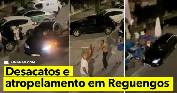Violência e ATROPELAMENTO à porta de um Café em Reguengos