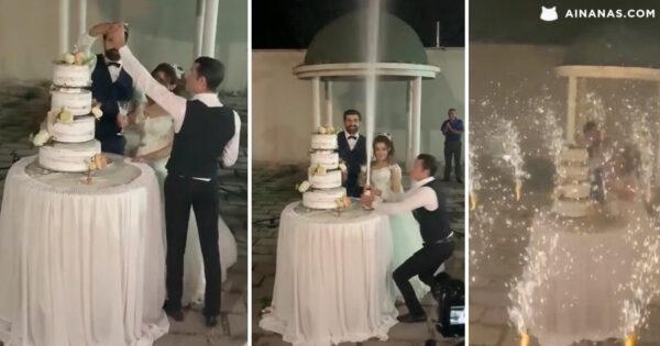 Garçon ousado ROUBA PROTAGONISMO aos Recém Casados