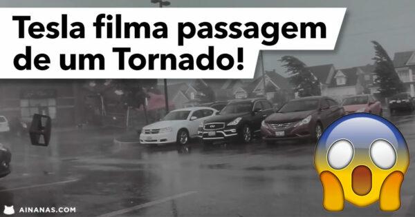 Tesla filma o INTERIOR DE UM TORNADO