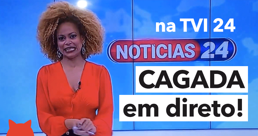 Jornalista da TVI 24 protagoniza momento bizarro