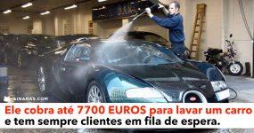 Ele Cobra até 7700 EUR para Lavar um Carro e tem Sempre Clientes