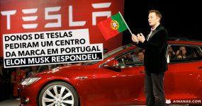 Portugal Pede um Centro TESLA e ELON MUSK responde