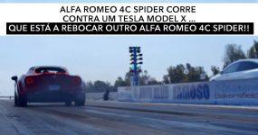 Alfa Romeo VS Tesla… a rebocar um Alfa Romeo