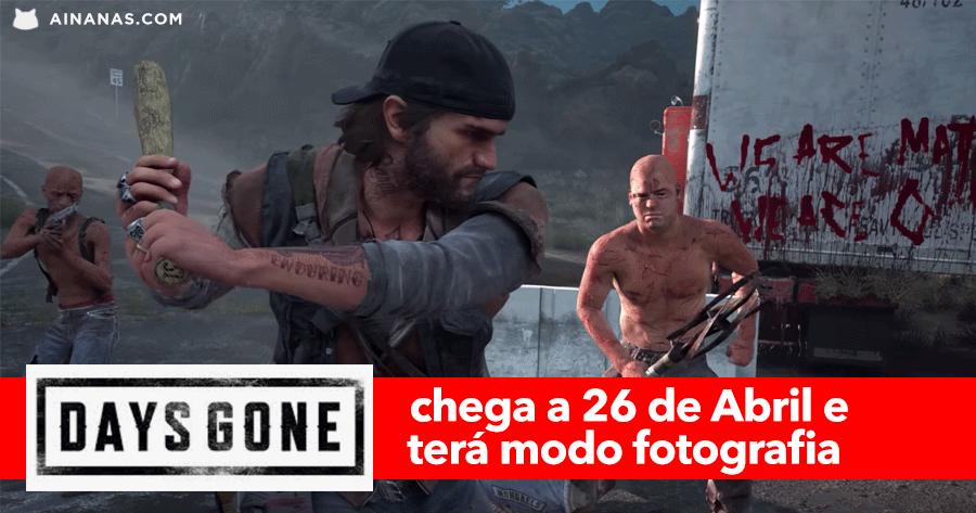 PS4: Days Gone chega a 26 de Abril e terá Modo Fotografia