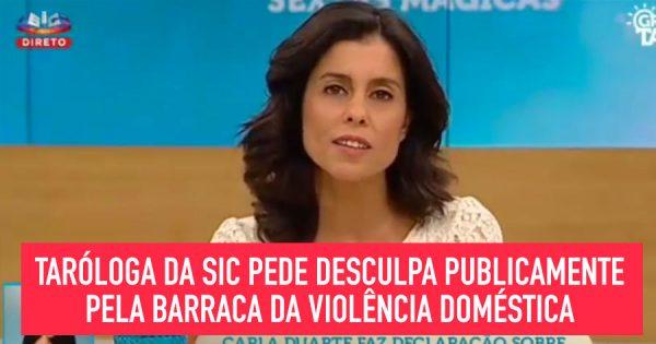 Tarologa da SIC pede desculpa pela BRONCA da Violência Doméstica