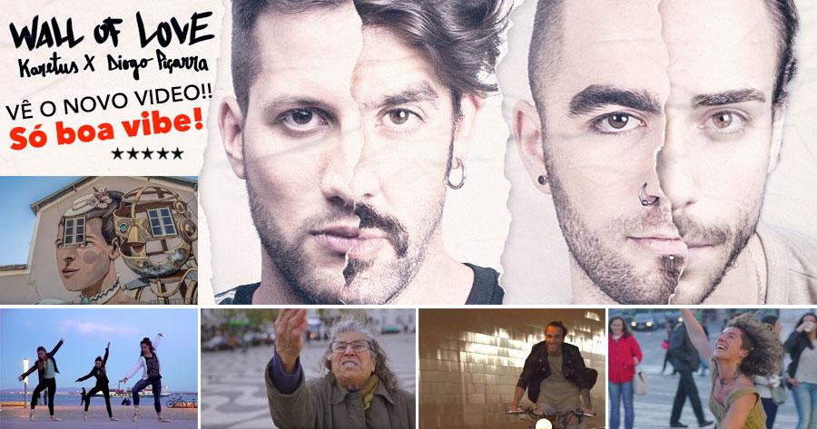 Tens de ver este vídeo incrível sobre a WALL of LOVE! Karetus e Diogo Piçarra em grande com o hit deste Verão!