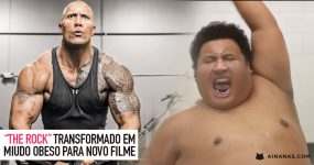 "THE ROCK transformado em miudo obeso para ""Central de Inteligência"""