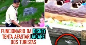 Funcionário da Disney tenta afastar ALLIGATOR dos Turistas
