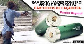 Rambo Tailandês Constroi Pistola que dispara CARTUCHOS DE CAÇADEIRA