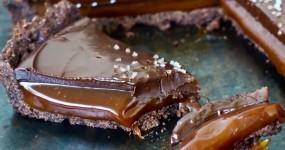 Tarte de Caramelo e Chocolate de Comer e Chorar por Mais