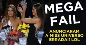 MEGA FAIL: Anunciaram a Miss Universo ERRADA