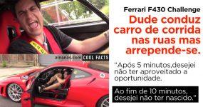 Dude Arrepende-se Amargamente de Conduzir um FERRARI DE CORRIDA nas Ruas