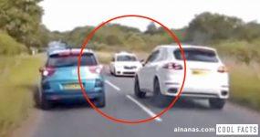 Condutora de Porsche Põe Vidas em Perigo com Ultrapassagem Criminosa
